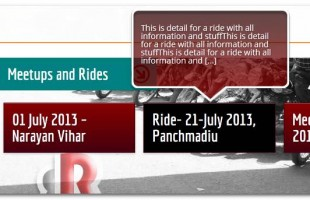 Upcoming Meetings and Rides Shown on Main Page