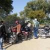 The Royal Riders outside Garhi Padawali , Madhya Pradesh