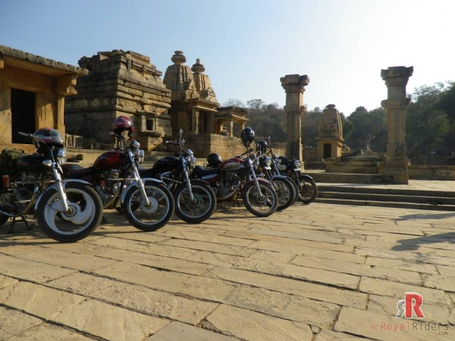 Royal Riders at Bateshwar Group of Temples near Morena near village Padavali