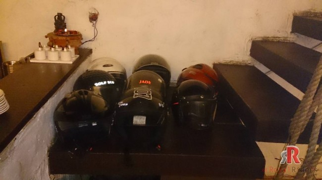 Helmets of Royal Enfield Riders Group
