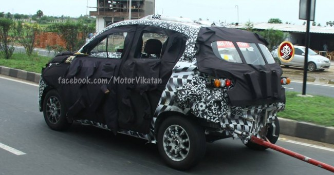 New Mahindra S101 SUV back picture