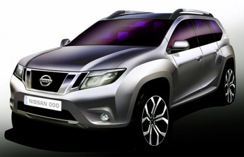 NIssan Terrano front portion sketch