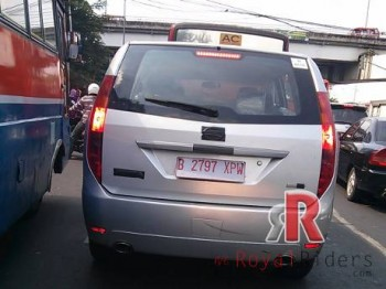 Tata Aria Crossover Car in Indonesia while being tested in real roads.