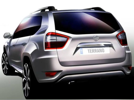 Nissan Terrano - Rear Sketch