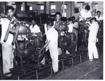 Rare Picture of Royal Enfield Motorcycle Factory from 1960s