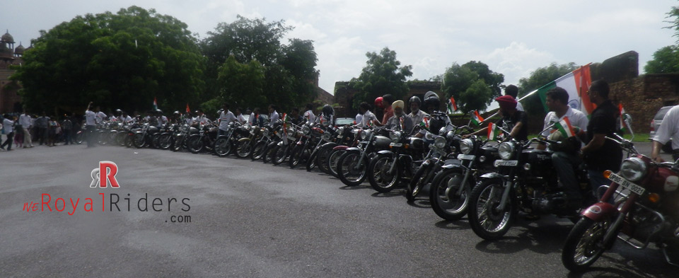 The prodigious group of Royal Riders at Fatehpur Sikri Ride 2013 on August 15.