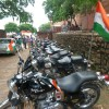 While in parking Royal Enfield bikes waiting for Riders.