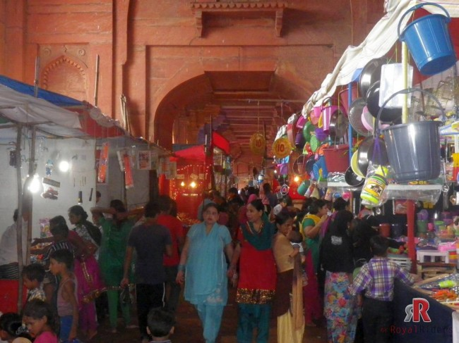 Pictures of Annual Fair / Mela at Fatehpur Sikri from one side.