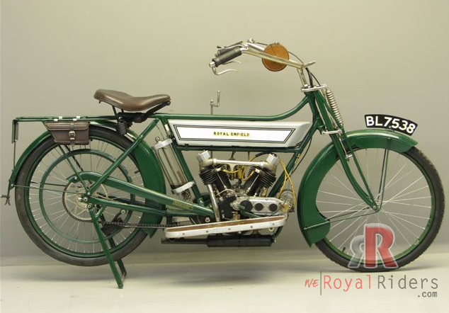 425cc 1914 V-Twin Royal Enfield Bike - restored.