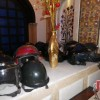 Some of the Rider's Helmets..