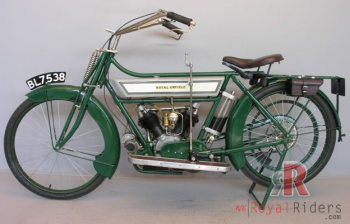 425cc 1914 V-Twin Royal Enfield Bike , note that glass oil chamber.
