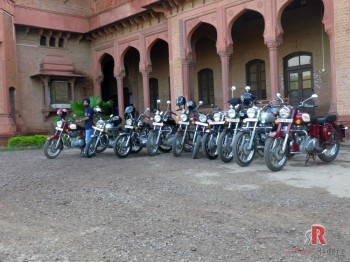 The iconic St. Johns Degree College Agra meets the Royal Enfield Riders.