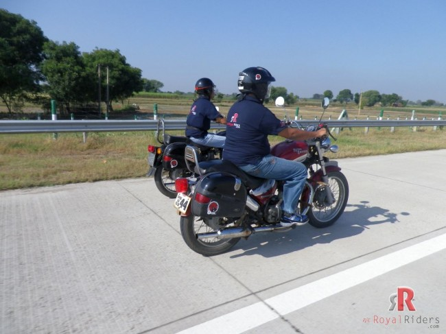 Mr. Khandelwal and Mr. S.P. Singh during the Express Way Ride.