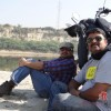 Mr. Rajesh and Mr. Himanshu stealing some moments sitting beside their RE.