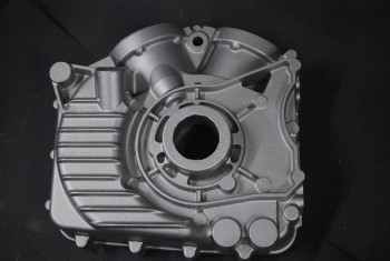 A driveside crankcase for Norcroft V-Twin Engine.