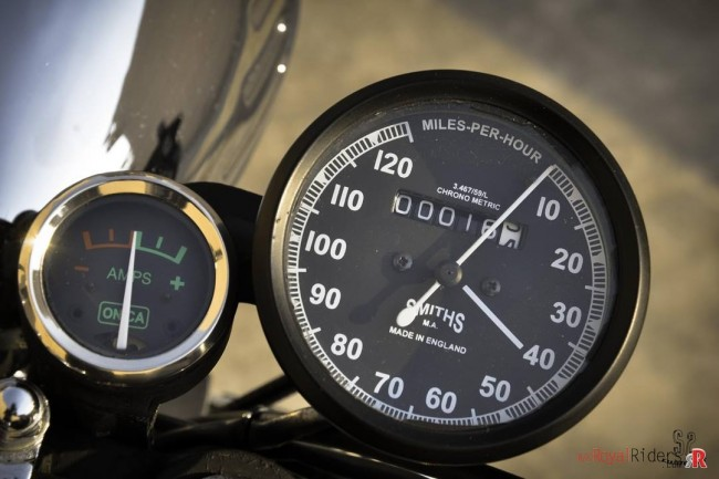 Made in England Royal Enfield Speedometer.