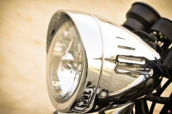 A custom Chrome Coated Headlight Assembly