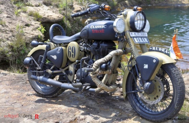 Rudra Royal Enfield Desert Storm Modified By Arhunki Of