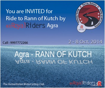 Riding Royal Enfield to Rann of Kutch Desert.