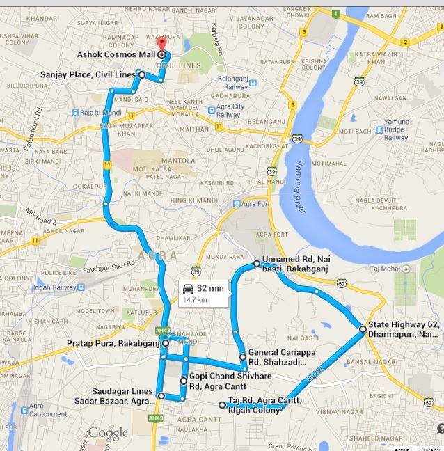 DGR ride Plan Agra