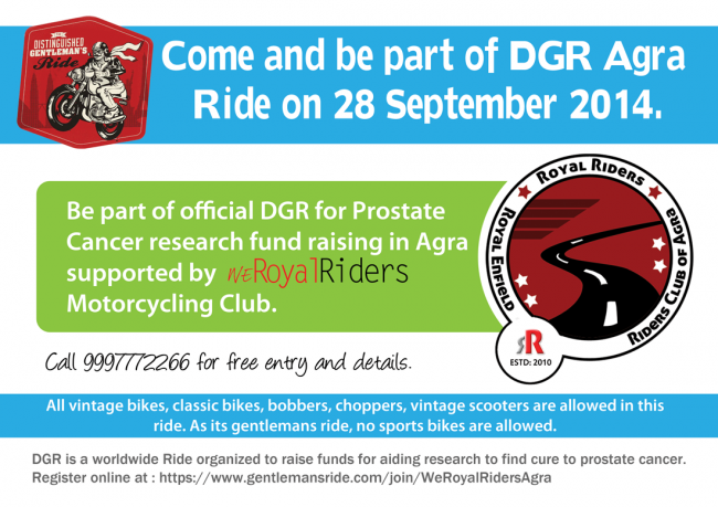 Distinguished Gentleman's Ride Agra