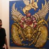 Vikram Shukla with one of the art piece
