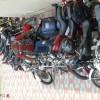 Sabya posing with bikes.