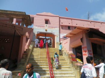 The famous Hunuman Mandir at Sariska Wildlife Sanctuary.
