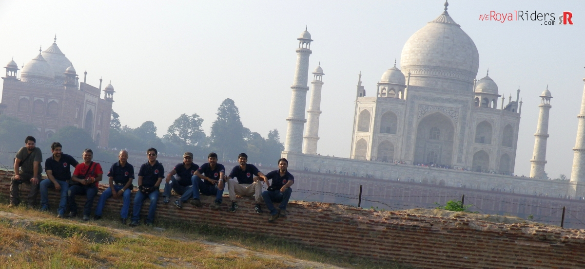 Royal Riders with guests at Mehtab Bagh.