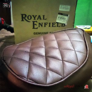 Custom Diamond Pattern stitched for Royal Enfield