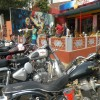 Our Royal Enfield at Cafe Sheroes