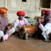 Traditional Rajasthani folks artist performing
