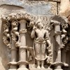 Beautiful Sculptures around the Temple of Harshat Mata.