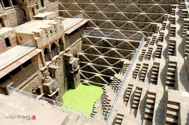 Algae covered water at Chand Baoli