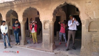 Chinese tourists taking our snaps at Abhaneri - Chand Baoli.