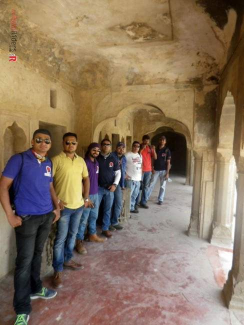 Awesome weRoyal Riders posing at Abhaneri - Chand Baowli Premises.