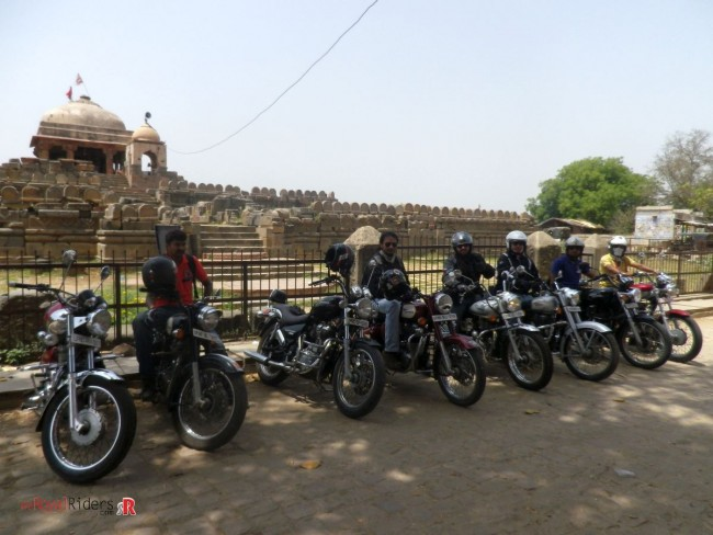 weRoyal Riders in front of Harshat Mata Temple at Abhaneri Village- Rajasthan