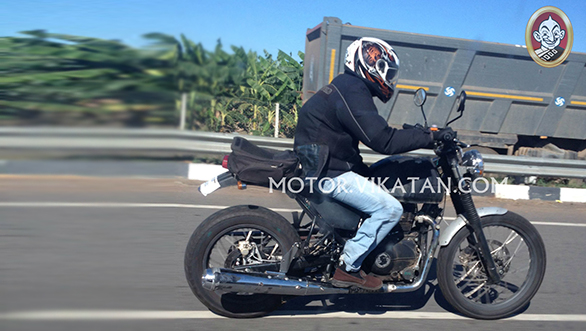 New Royal Enfield Himalayan Spied Picture during road test at Chennai.