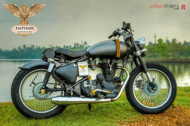Retro-naut - custom Royal Enfield by Empror Motors