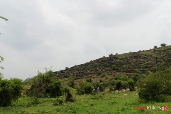 Almost lost in vast greenery and rocks at Murena . You can see some of the Riders  at distance.