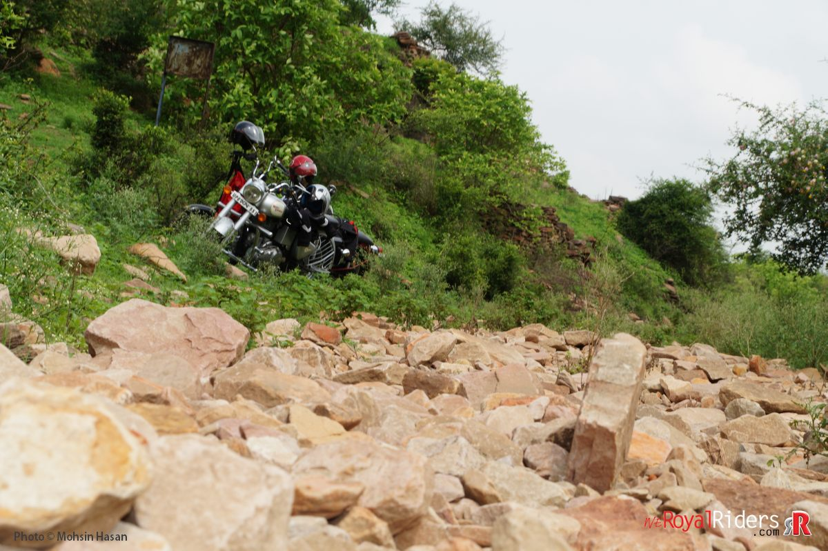 At then end we were riding over these rocks.
