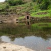 Shrines around central reservoir  atop hill at Naresar temples