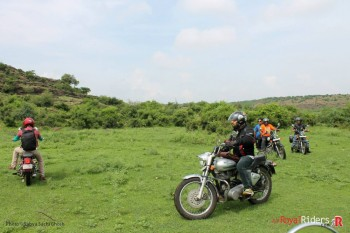 Large green open area near Naresar Temple where thought we are lost.