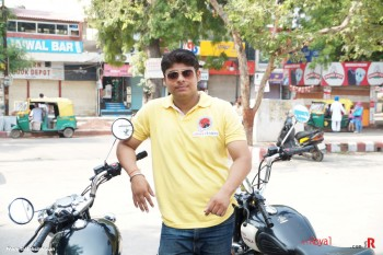 Shivam Yadav, one of our youngest rider posing for camera.