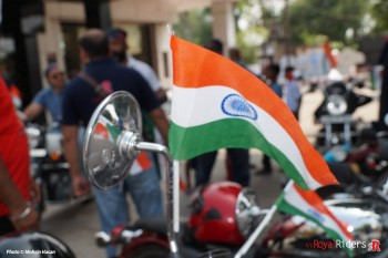 Indian Tricolor beautiful picture mounted on  Handlebar