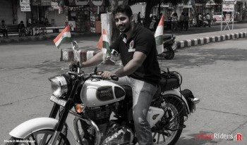 Digvijay riding White Royal Enfield