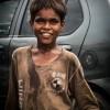 An under-privileged kid at Hariparwat Crossing, Agra.