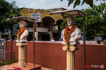 Monuments of Martyrs of Freedom Fight at Shaheed Smarak, Sanjay Place Agra.