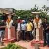 Paying homage to martyr