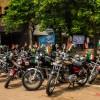 Royal Enfield Bikes at Sanjay Place Agra at Shaheed smarak on Independence day celebrations.